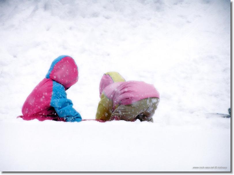 snow sliding at hokkaido university