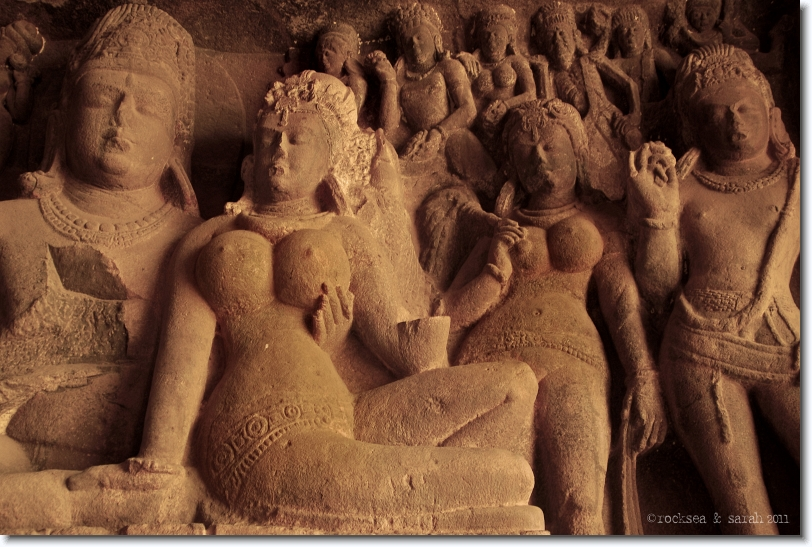 parvati with siva at cave 29, ellora