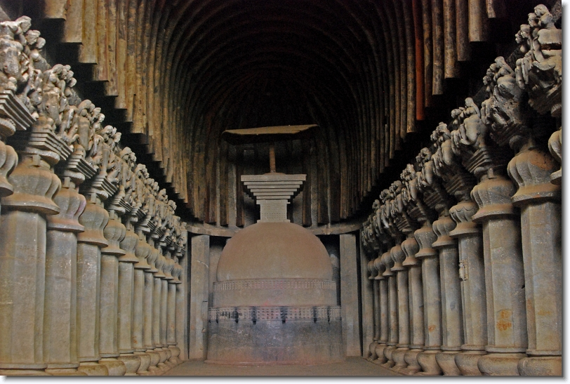 hinayana chaitya hall, karla caves